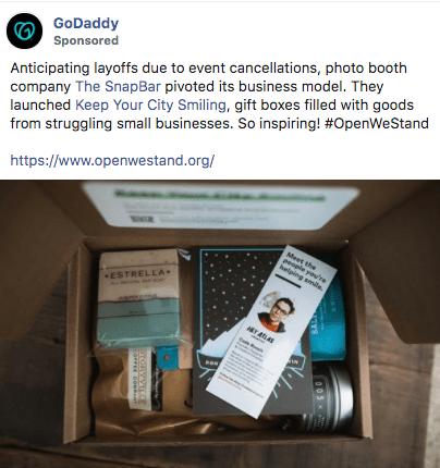successful social media advertising COVID case study